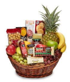 Gourmet Gift Basket Sausage Cheese Crackers Nuts Delivdery