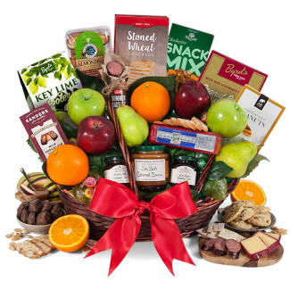 Bountiful Harvest Fruit and Gourmet Gift Basket