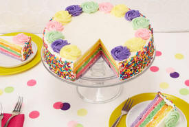 10-inch Rainbow Cake Deliverd To Your Door