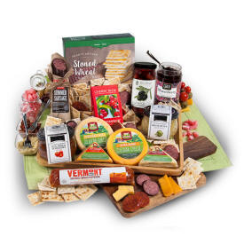 Artisan Meat & Cheese Gift Basket 99.99 send to Bristol