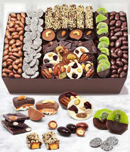 Belgian Chocolate Covered Fruit and Nut Tray