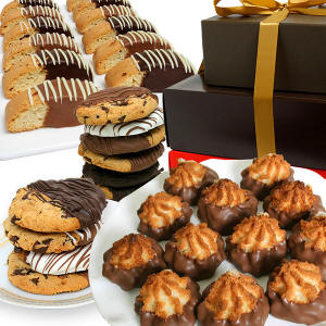 Belgian Chocolate Dipped Gift Tower