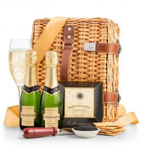 Champagene and Caviar Gourmet Basket $49.95