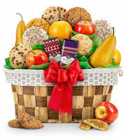 Fresh Fruit and Cookie Basket