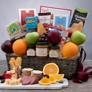 Bountiful Harvest - Fruit & Gourmet Gift Basket