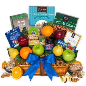 Fruit & Healthy Snacks Gift Basket Fast Delivery