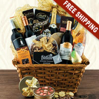 Wine and Champagne Gift Basket