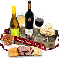Mother's Day Indulgence Wine and Gourmet Gift Basket
