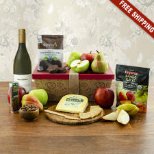 Organic White Wine & Fruit Gift Box New Jersey