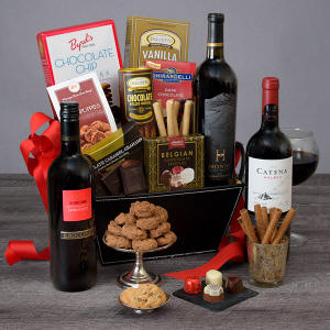 Red Wine Dark Chocolate Gift Basket 89.99 - 169.99