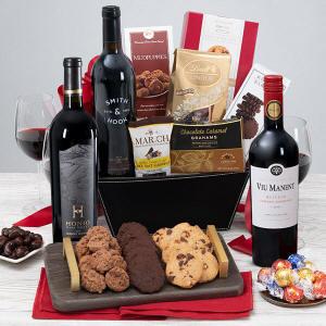 Wine & Dark Chocolate Gift Basket
