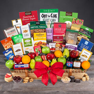 Huge Lage Fruit and Gourmet Gift Basket