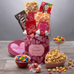 Valentines day gift basket with chocolate for love 29.99