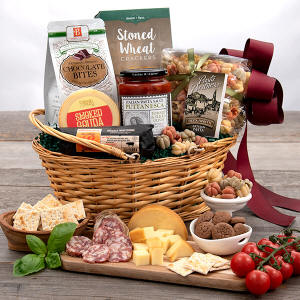 Italian themed cooking gift basket 89.99 Tuscany - Ships To Bomoseen