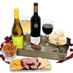 Sausage Cheese Meat Gourmet Food Wine Gift Basket