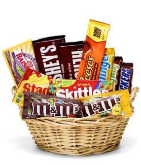 All Candy Basket For A Birthday
