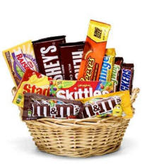 All Candy Gift Basket $33.99 Same Day Delivery To Connecticut