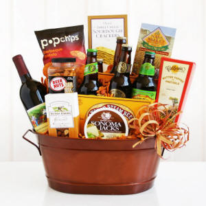 Beer & Wine Gourmet Gift Basket