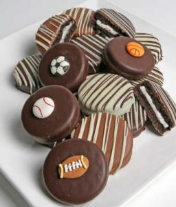Belgian Chocolate Covered Oreo Cookies Sports Themed