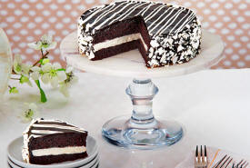 Black and White Mousse Cake Delivered To You