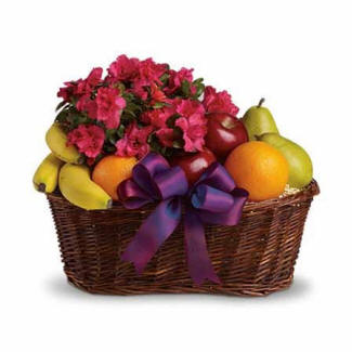 Fruit & Blooms Gift Basket