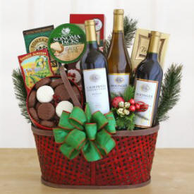 Bounty Gourmet Wine Basket