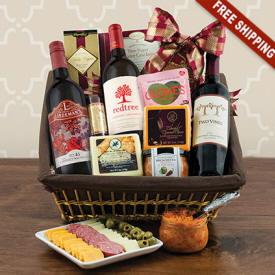 Cabernet & Cheese Wine Gift Basket Avalon Delivery
