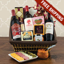 Cabernet & Cheese Party Gift Basket
