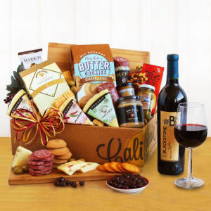 California Vineyard Gourmet Wine Gift Basket