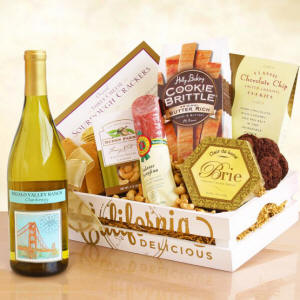California Gourmet and Wine Welcome Gift Basket $66.50