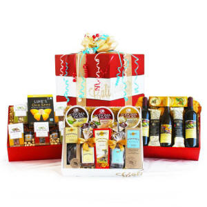 Celebration Gourmet & Wine Gift Basket