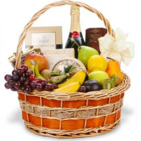 Champagne & Fruit Gift Basket