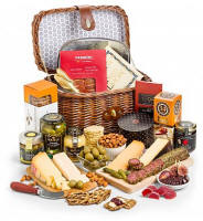 Charcuterie and Gourmet Cheese Basket