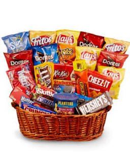 Chips Candy Snacks Basket
