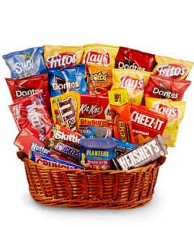 Chips Candy Snack Basket $39.99
