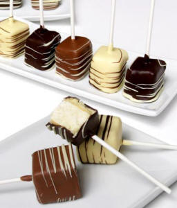 Chocolate Covered Cheesecake Pops