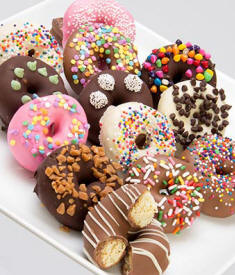Chocolate Covered Mini Donuts $44.99 Delived To Florida