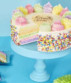 Colorful Layered Birthday Cake Delivery Fast