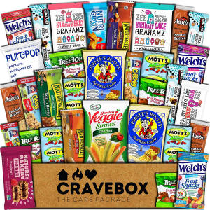 Cravebox Healthy 30 pack of healthy snacks care package