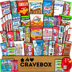 Cravebox Cookies Snacks 45 pack Chocolate Care Package