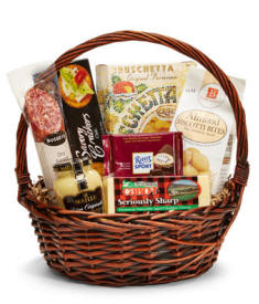Encinal Sausage, Cheese and Gourmet Gift Basket - Same Day Delivery