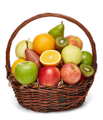 gift basket with all fruit