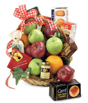 Deluxe Fruit and Gourmet Gift Basket