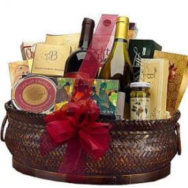 Wine and Gourmet Gift Basket $149.95