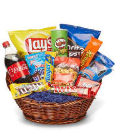 Deluxe Junk Food Basket $54.99 Same Day Delivery To Connecticut