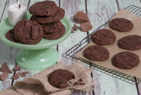 Double Fudge Chocolate Cookies
