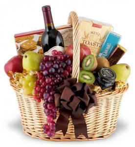 Elegance To Spare Wine Gift Basket $109.95