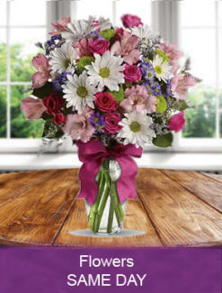 Fresh flowers delivered daily Spearville  delivery for a birthday, anniversary, get well, sympathy or any occasion