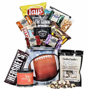 Football Themed Snack Bucket