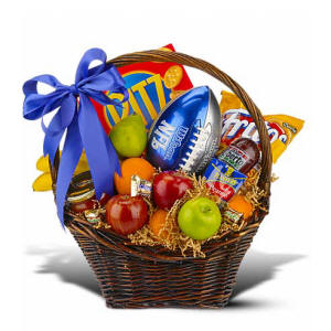 Football Sports Themed Gift Basket